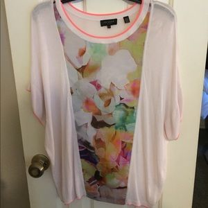 Ted Baker cream with flowers top. Size 3